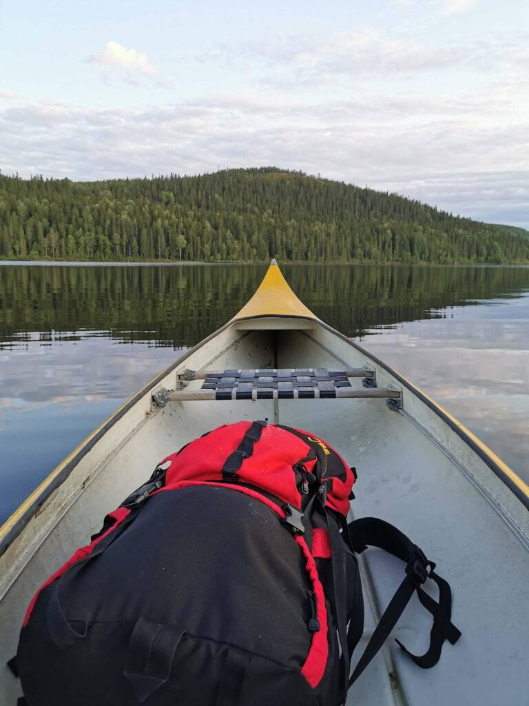 Kanot på Bjursjön