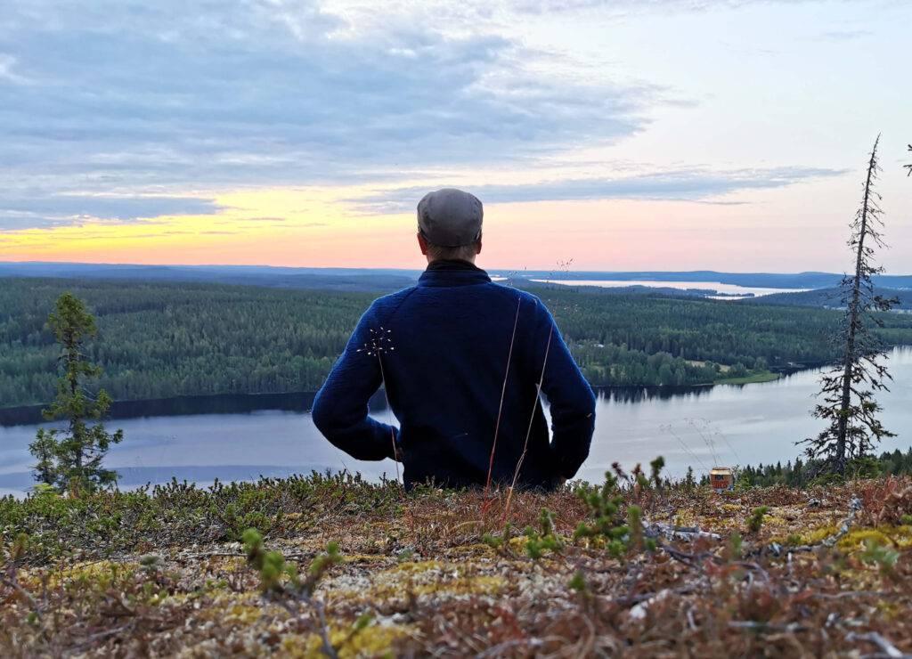 Utsikt, Emil blickar ut över Västerbotten.