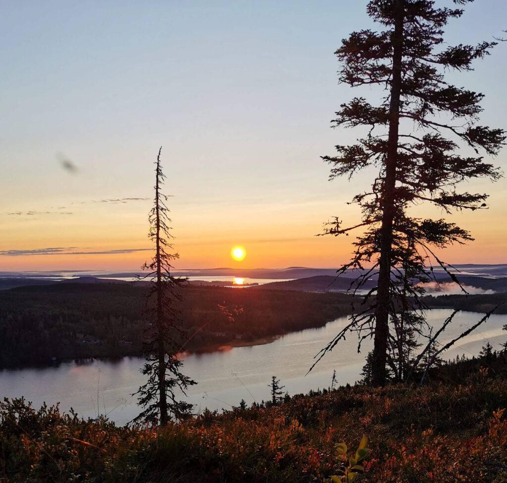 Soluppgång i Västerbotten