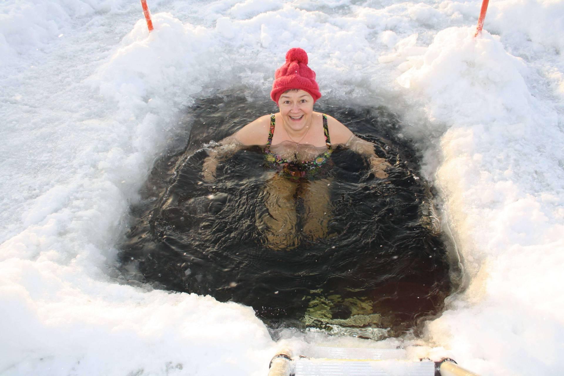 Vinterbad i isvak är bra för hälsan
