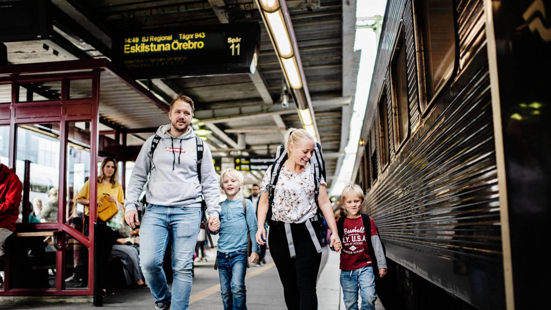Enkelt och roligt att tågluffa med familjen