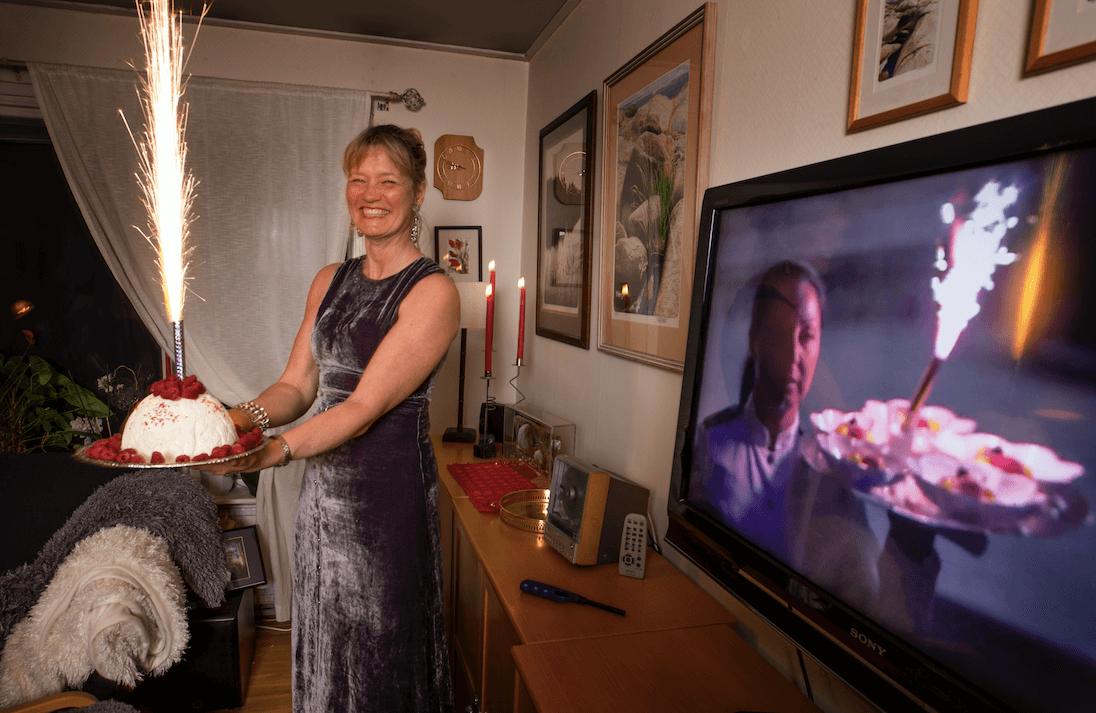 När man firar nobelfest måste naturligtvis efterrätten vara något extra