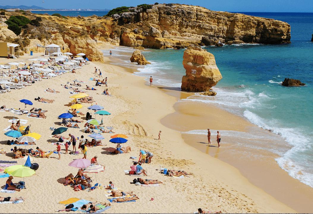 Stranden i Albufeira på Mallorca