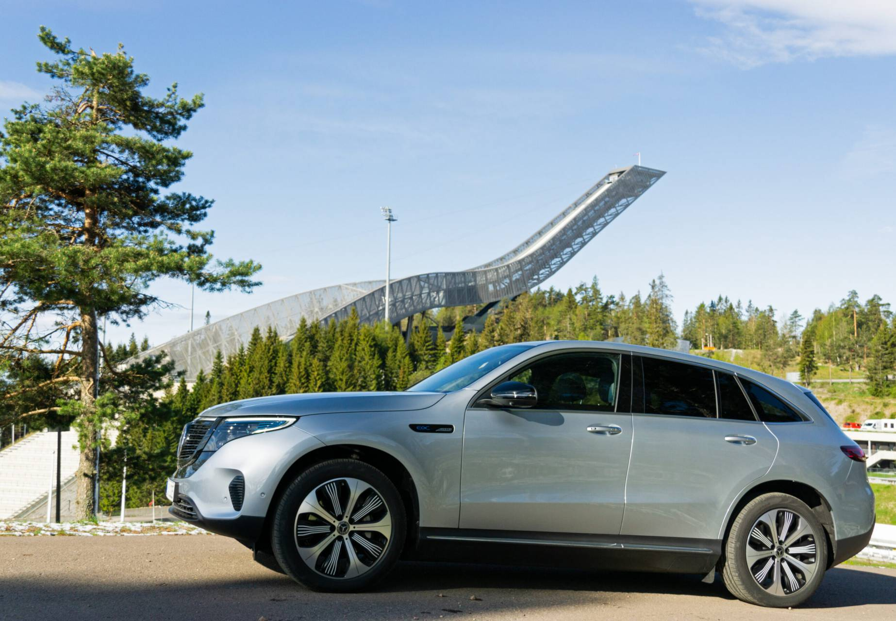 Mercedes vid Holmenkollen