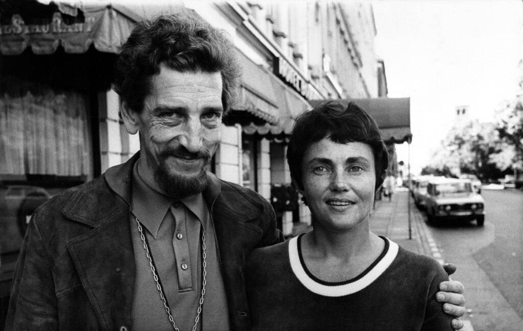 Per Wahlöö och Maj Sjövall, svartvitt foto