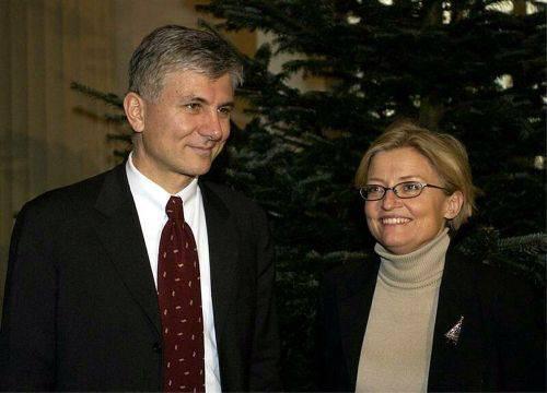 Anna Lindh tillsammans med Zoran Djindjic