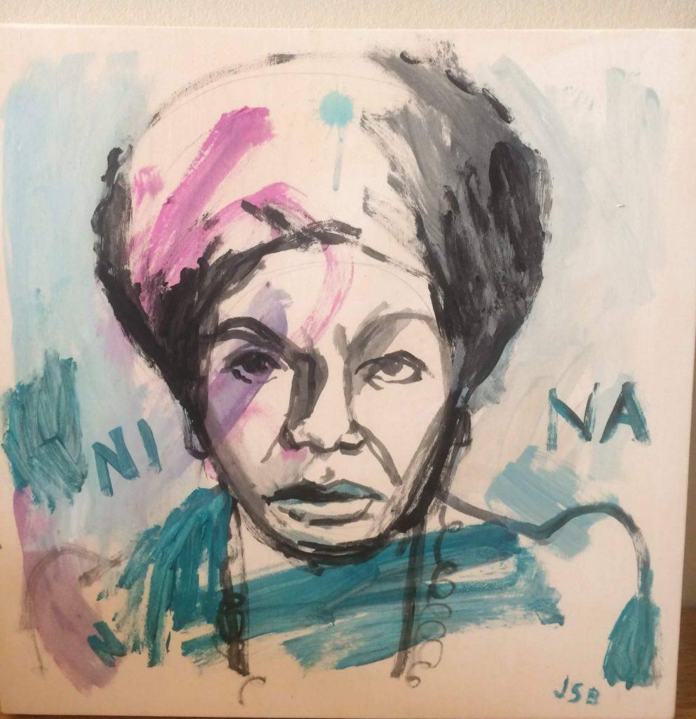 Målning av Nina Simone