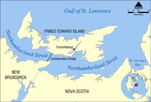 Karta över Prince Edward Island