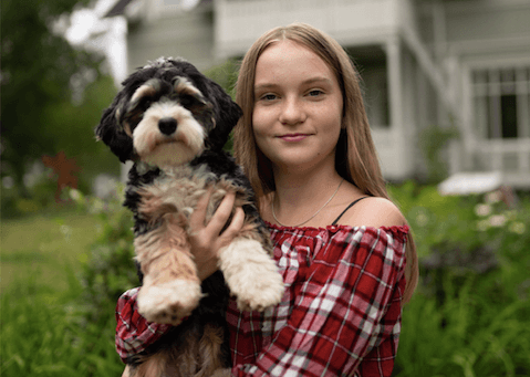 Skoltrötta Wilma blev motiverad tack vare hunden Ottivia
