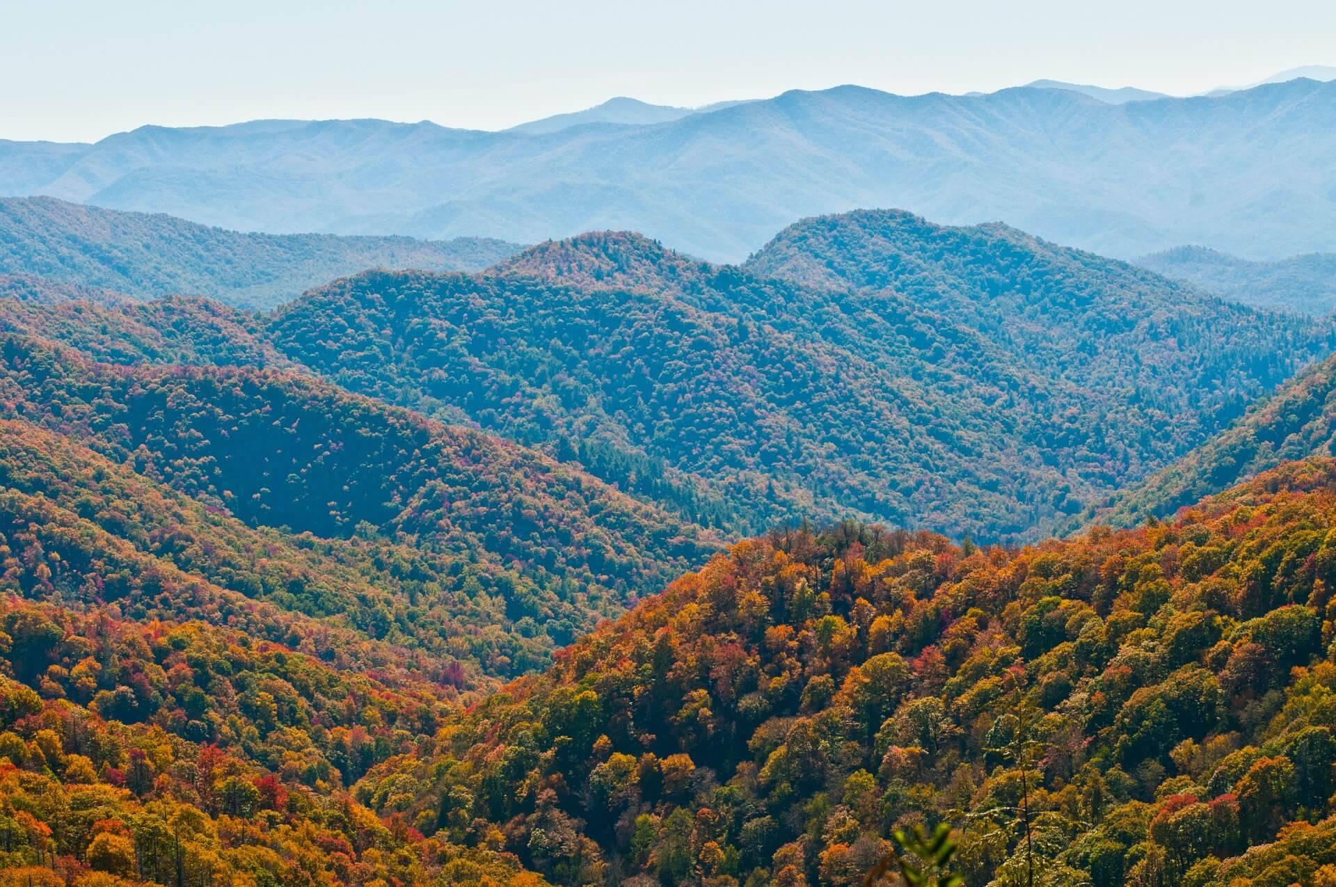 Autumn landscape appalachian trail