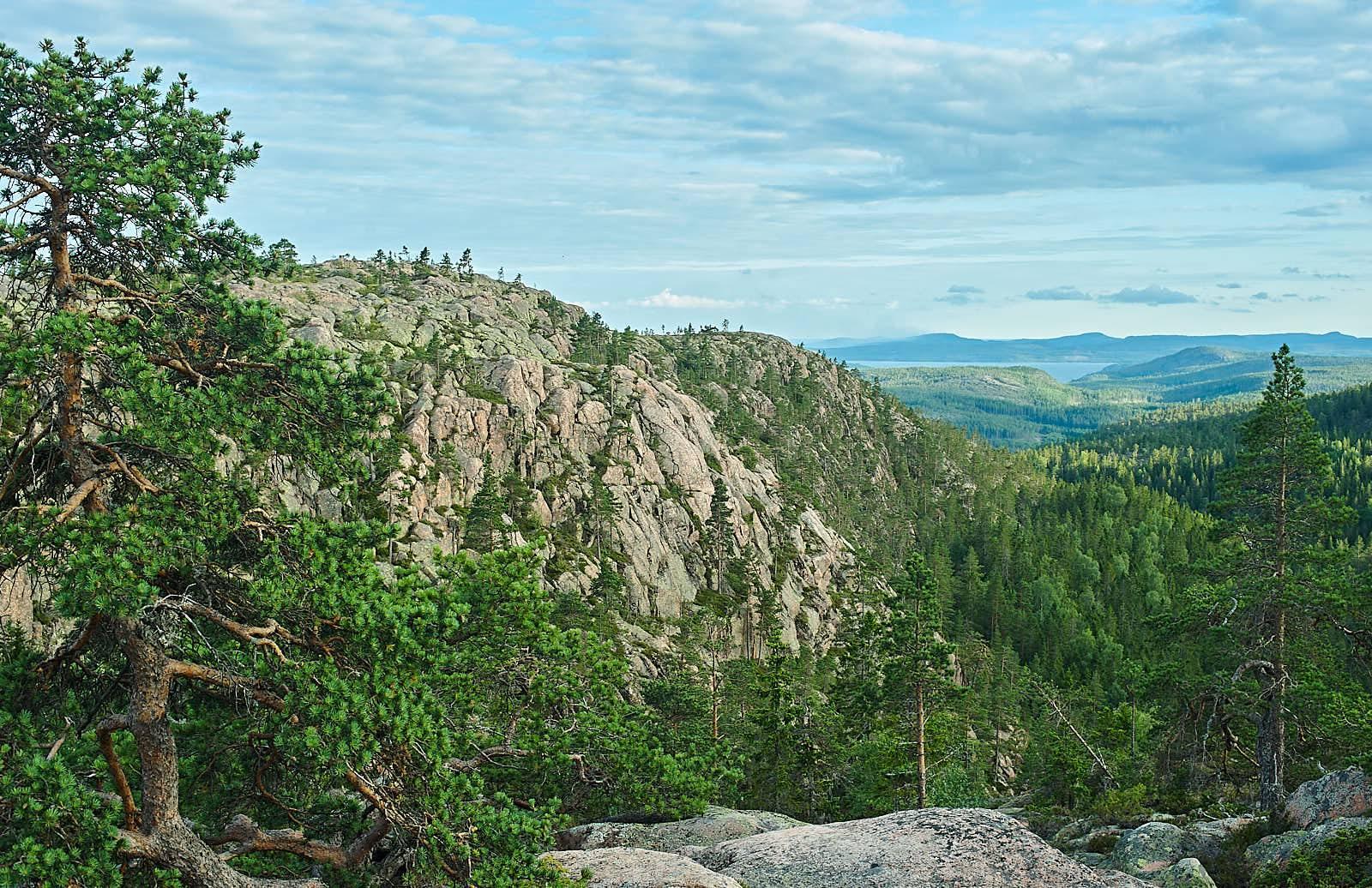 Utsikt från Slåttdalsberget mot söder.